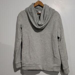 J.Crew Gray Cow Neck Sweatshirt w/pockets Sz M